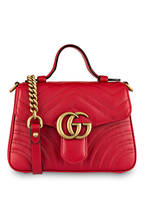 GUCCI Handtasche GG MARMONT MINI, Farbe: HIBISCUS RED (Bild 1)