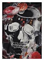 ALEXANDER McQUEEN Tuch, Farbe: SCHWARZ/ IVORY/ ROT (Bild 1)