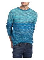 CARLO COLUCCI Pullover, Farbe: BLAU MELIERT (Bild 1)