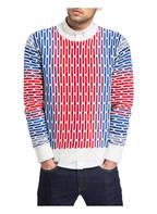CARLO COLUCCI Pullover , Farbe: WEISS/ BLAU/ ROT (Bild 1)