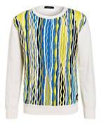 CARLO COLUCCI Pullover , Farbe: WEISS/ GELB/ BLAU (Bild 1)