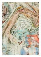 Faliero Sarti Tuch PEPPINO, Farbe: CREME/ HELLBLAU/ ROT (Bild 1)