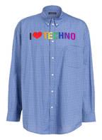 BALENCIAGA Oversized-Hemd, Farbe: BLAU/ WEISS KARIERT (Bild 1)