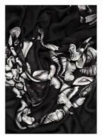ALEXANDER McQUEEN Tuch, Farbe: SCHWARZ/ PINK (Bild 1)