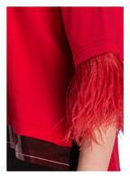 N°21 T-Shirt mit Federbesatz, Farbe: ROT (Bild 1)