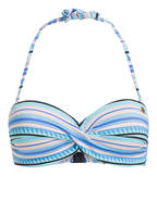 BANANA MOON Bandeau-Bikini-Top MASCAPA, Farbe: TÜRKIS/ WEISS (Bild 1)
