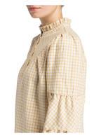 POSTYR Blusenkleid, Farbe: ECRU/ GELB KARIERT (Bild 1)