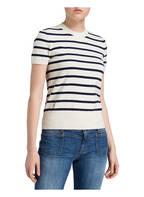 POLO RALPH LAUREN Strickshirt, Farbe: CREME/ DUNKELBLAU GESTREIFT (Bild 1)