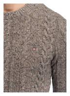 GANT Pullover mit Zopfmuster, Farbe: GRAU MELIERT (Bild 1)