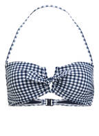 SEAFOLLY Bandeau-Bikini-Top CAPRI CHECK, Farbe: MARINE/ WEISS KARIERT (Bild 1)