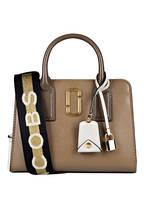 MARC JACOBS Handtasche LITTLE BIG SHOT, Farbe: BEIGE/ GOLD/ SCHWARZ (Bild 1)