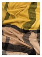 BURBERRY Cashmere-Schal, Farbe: GELB/ BEIGE/ SCHWARZ KARIERT (Bild 1)