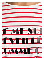 s.Oliver BLACK LABEL Longsleeve, Farbe: CREME/ ROT GESTREIFT (Bild 1)