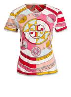 TORY BURCH T-Shirt, Farbe: ROSA/ HELLBLAU/ ROT (Bild 1)