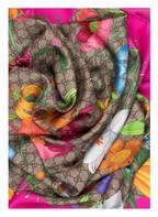 GUCCI Seidentuch, Farbe: BEIGE/ PINK (Bild 1)