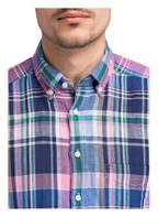 STROKESMAN'S Leinenhemd Regular Fit, Farbe: BLAU/ HELLROSA/ GRÜN (Bild 1)