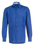 STROKESMAN'S Hemd Tailored Fit mit Leinenanteil, Farbe: BLAU (Bild 1)