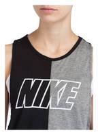 Nike Tanktop MILER, Farbe: SCHWARZ/ GRAU MELIERT (Bild 1)