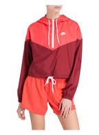 Nike Windbreaker HERITAGE, Farbe: ROT/ NEONLACHS (Bild 1)