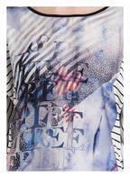 TAIFUN T-Shirt mit 3/4-Arm, Farbe: HELLBLAU/ WEISS/ SCHWARZ (Bild 1)
