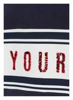 s.Oliver Hoodie mit Paillettenbesatz, Farbe: DUNKELBLAU (Bild 1)