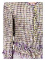 RIANI Bouclé-Jacke , Farbe: GRÜN/ LILA/ WEISS (Bild 1)