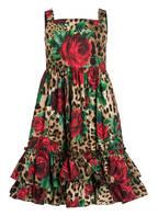 DOLCE&GABBANA Kleid, Farbe: BEIGE/ SCHWARZ/ ROT (Bild 1)