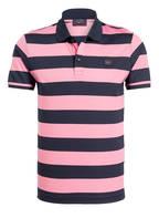 PAUL & SHARK Piqué-Poloshirt, Farbe: SCHWARZ/ PINK GETREIFT (Bild 1)