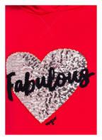 VINGINO Sweatkleid mit Paillettenbesatz, Farbe: ROT (Bild 1)