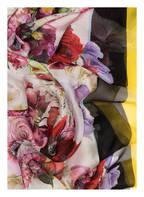 DOLCE&GABBANA Seidenschal, Farbe: SCHWARZ/ GELB/ HELLROSA (Bild 1)