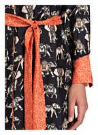 IVI collection Blusenkleid ELEPHANT, Farbe: SCHWARZ/ BEIGE/ ORANGE (Bild 1)