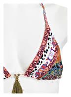 watercult Triangel-Bikini-Top VINTAGE BOHO, Farbe: GRÜN/ WEISS/ ORANGE (Bild 1)