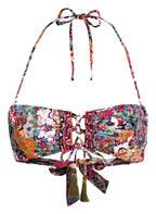 watercult Bandeau-Bikini-Top VINTAGE BOHO, Farbe: LILA/ BLAU/ GRÜN (Bild 1)