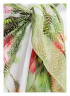 MARYAN MEHLHORN Pareo CHINÉ aus Seide, Farbe: GRÜN/ ROT/ WEISS (Bild 1)