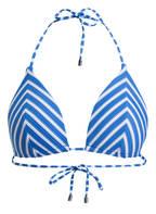 POLO RALPH LAUREN Triangel-Bikini-Top , Farbe: BLAU/ WEISS (Bild 1)