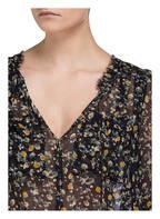 DOROTHEE SCHUMACHER Blusenshirt aus Seide, Farbe: SCHWARZ/ PETROL/ GELB (Bild 1)