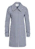 CLAUDIE PIERLOT Mantel GEORGES , Farbe: WEISS/ DUNKELBLAU KARIERT (Bild 1)