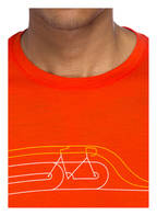 icebreaker T-Shirt TECH LITE mit Merinowolle-Anteil, Farbe: ROT (Bild 1)