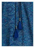 PINK PLANET Off-Shoulder-Kleid mit Seidenanteil, Farbe: BLAU/ TÜRKIS (Bild 1)
