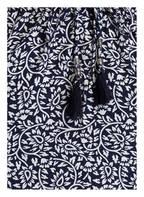 PINK PLANET Off-Shoulder-Kleid mit Seidenanteil, Farbe: DUNKELBLAU/ WEISS  (Bild 1)