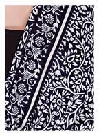 PINK PLANET Strandkleid aus Seide, Farbe: DUNKELBLAU/ WEISS (Bild 1)