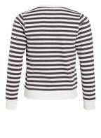 GARCIA Sweatshirt, Farbe: OFFWHITE/ DUNKELGRAU GESTREIFT (Bild 1)
