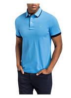 HACKETT LONDON Piqué-Poloshirt Slim Fit, Farbe: BLAU (Bild 1)