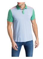 HACKETT LONDON Piqué-Poloshirt, Farbe: HELLBLAU / HELLGRÜN /PINK (Bild 1)