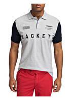 HACKETT LONDON Piqué-Poloshirt, Farbe: GRAU/ NAVY (Bild 1)