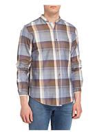 Luis Trenker Hemd BERNET Tailored Fit, Farbe: BLAU/ BRAUN (Bild 1)