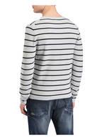 NOWADAYS Pullover, Farbe: GRAU/ DUNKELBLAU GESTREIFT (Bild 1)