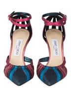 JIMMY CHOO Sandaletten TRAVIS 100, Farbe: PINK/ BLAU/ PETROL (Bild 1)