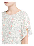 REPEAT Kleid mit Volants, Farbe: CREME/ GRÜN (Bild 1)