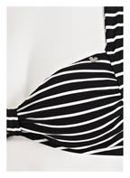 SHORT STORIES Neckholder-Bikini-Top, Farbe: SCHWARZ/ WEISS GESTREIFT (Bild 1)